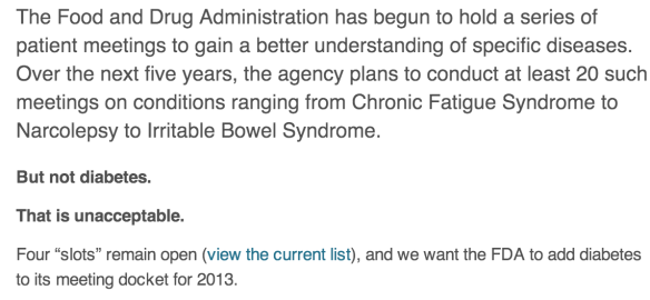 FDA Diatribe peition